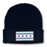 Chicago Flag Navy Watch Cap
