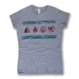 Chicago Flag Legacy Tee - Women's