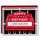 Wrigley Sign Your Name - Greeting Card
