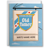 Old Timer Sign Your Name - Greeting Card