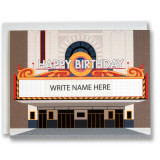 Chicago Theater Sign Your Name - Greeting Card