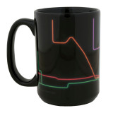 Neon City Map Coffee Mug