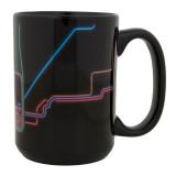 Neon City Map Coffee Mug