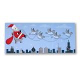 Swanky Santa Holiday Card