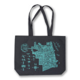 Neon Neighborhood Map Tote Bag