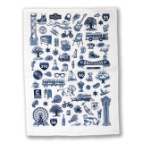 Chicago Icons Flour Sack Towel