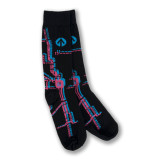 Metro Map Dress Socks