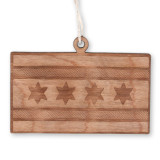 Chicago Flag Wood Ornament