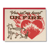 Heart on Fire - Greeting Card