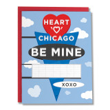 Heart of Chicago Sign Your Name - Greeting Card