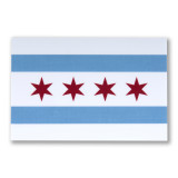 Mini Chicago Flag Sticker