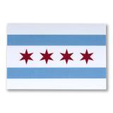 Mini Chicago Flag Sticker