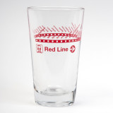 CTA Red Line Pint Glass