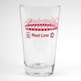 CTA Red Line Pint Glass