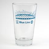 CTA Blue Line Pint Glass