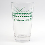 CTA Green Line Pint Glass