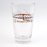 CTA Brown Line Pint Glass