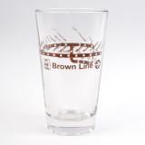 CTA Brown Line Pint Glass