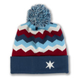Zig Zag Chicago Striped Knit Hat