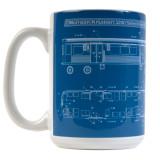 El Train Blueprint Schematic Mug