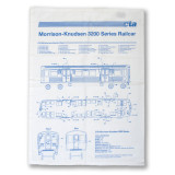 El Train Blueprint Schematic Flour Sack Towel