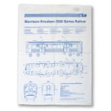 El Train Blueprint Schematic Flour Sack Towel