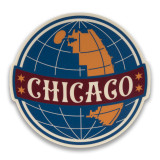 Chicago Globe Sticker