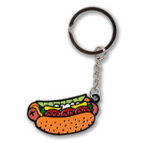 Chicago Style Hot Dog Enamel Keychain