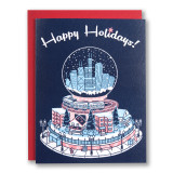 Chicago Snow Globe Holiday Card