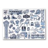 Chicago Icons Postcard