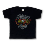 Neon Chicago Style Hot Dog - Youth Tee