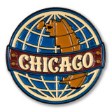 Chicago Globe Enamel Pin