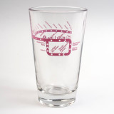 Pink Line Pint Glass