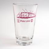 Pink Line Pint Glass