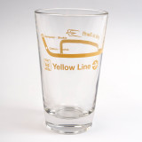 Yellow Line Pint Glass