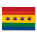 Mini Chicago Pride Flag Sticker