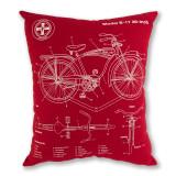 Chicago Bike Schematic Decorative Pillow