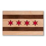 Chicago Flag Wooden Magnet