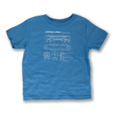 El Train Blueprint Schematic Carolina Blue - Toddler Tee