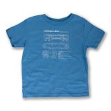 El Train Blueprint Schematic Carolina Blue - Toddler Tee