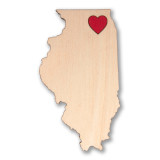 I Heart Chicago Wooden Magnet