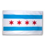 5' x 3' Polyester Chicago Flag