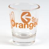 Orange Line Shot Glass