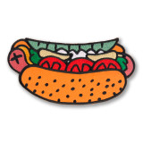 Jumbo Chicago Style Hot Dog Iron On Patch