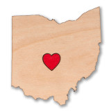 I Heart Columbus Ohio Wooden Magnet