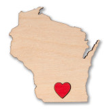 I Heart Madison Wisconsin Wooden Magnet