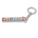 Chicago Transit Type Enamel Keychain