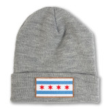 Chicago Flag Grey Watch Cap