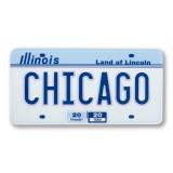 Chicago License Plate Sticker