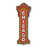 Chicago Theater Sign Sticker